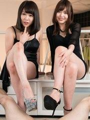 Shino Aoi and Yui Kawagoe